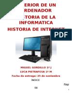 Historia de la informática Miguel Gordillo y Luca Pietrafesa