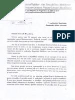 Scrisoare lui Igor Dodon adresată lui Klaus Iohannis