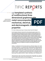 Ice-templated Synthesis of Multifunctional Three Dimensional Graphene Noble Metal Nanocomposites and Their Mechanical, Electrical, Catalytic, And Electromagnetic Shielding Properties