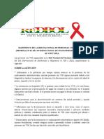 Manifiesto REDBOL Día Mundial VIH y sida 2016