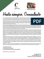 Comunicado Conjunto Coordinadora Estatal Solidaridad Con Cuba - Madrid y Colectivo 26 de Julio