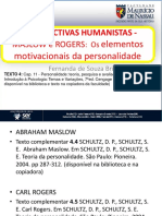 Humanistas Maslow e Rogers
