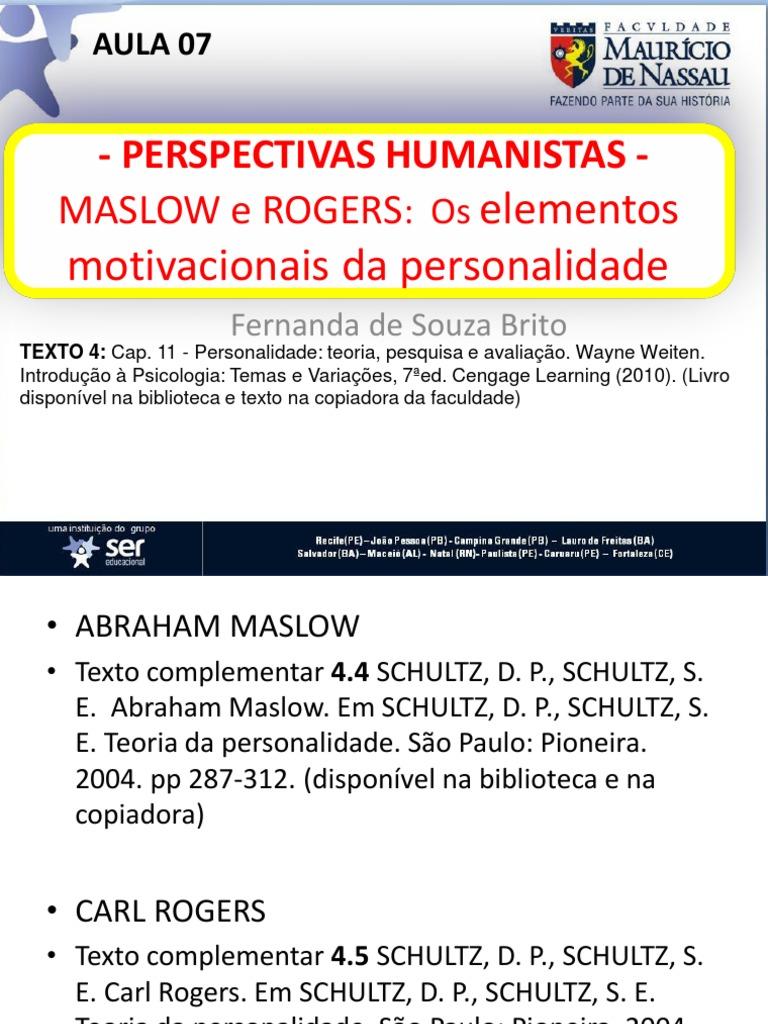 Humanistas Maslow E Rogers