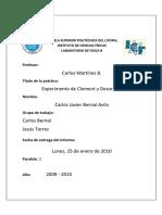 Informe 11 Experimento de Clement y Desormes