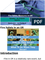 Fire in Operating Room - Dr Priyank Tapuria