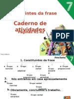08 Os Constituintes Da Frase - Caderno Atividades