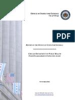Audit of CDPH Food Establishment Inspections