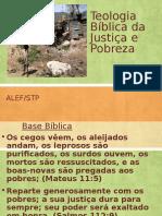 Teologia Bíblica Da Pobreza e Justiça