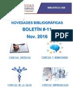 Boletin Novedades 11-2016