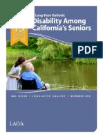California's Disability Long Term Outlook
