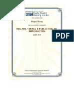 health literacy certificate