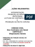 INTERPRETAÇÃO, PROBIÇÃO DE RENÚNCIA ANTECIPADAMENTE, LICITUDE.pptx
