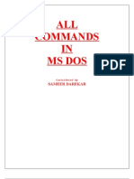 ALL COMMANDS IN MS DOS