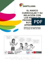 El Marco Curricular y Su Relación Con Los Mapas de Progreso y Las Rutas Del Aprendizaje