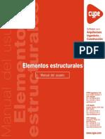 Elementos Estructurales - Manual Del Usuario