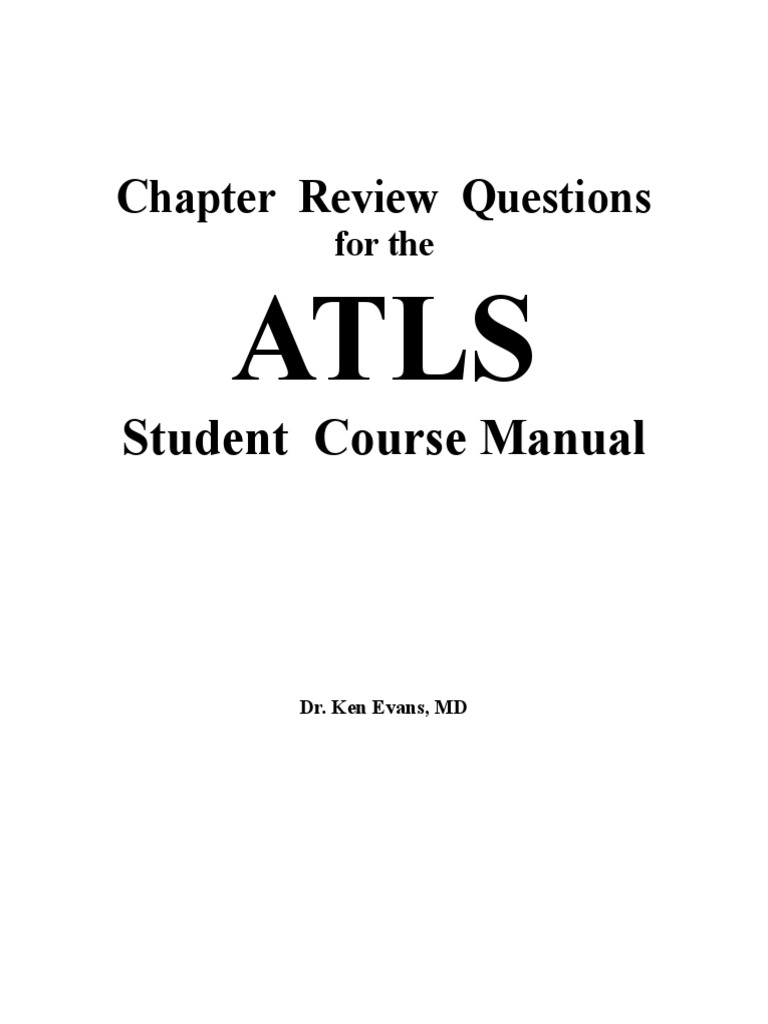 atls chapter review questions shock circulatory thorax