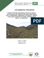 Estudio Ambiental Perfil Pataz
