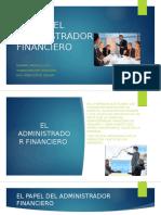 Papel Del Administrador Financiero