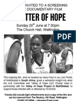 'A Matter of Hope' film Première Evening Poster