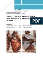 The influence of Plato and Aristotle in contemporary Greece.docx