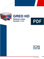 Software Release Note GRED HD 1.4.2