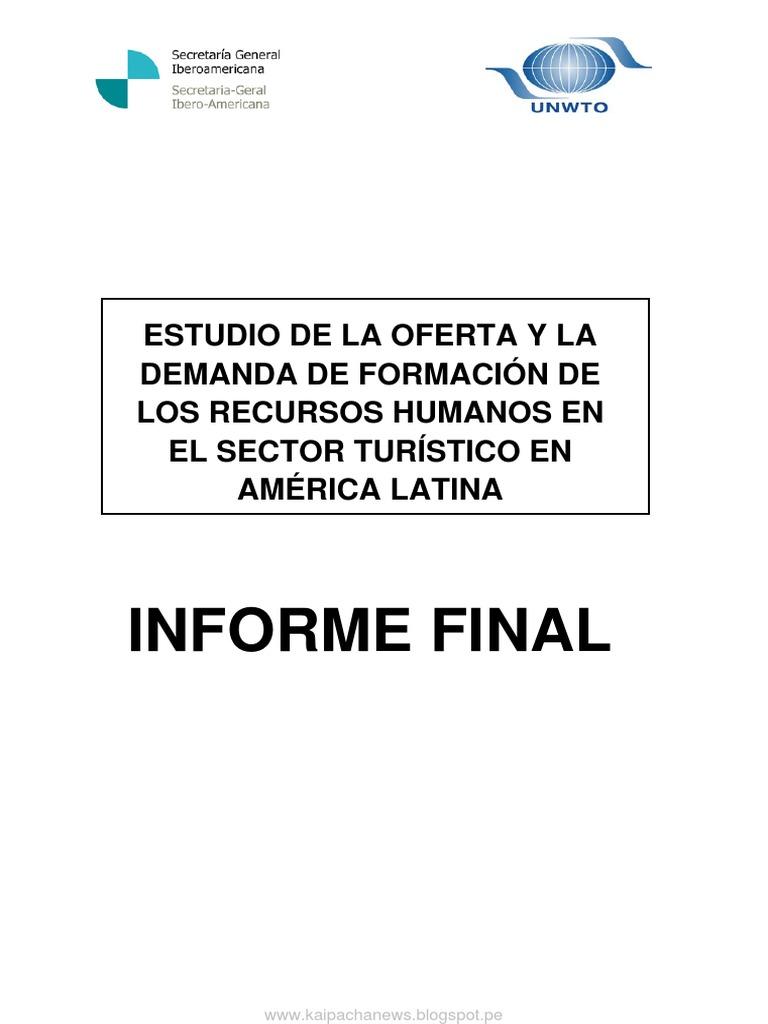Estudio de La Oferta y La Demanda de Formación de Los Recursos ...