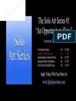 Solo Art Series #5 - 2016 Art Competition - Event Poster