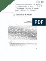 Leopoldo Múnera. Las Relaciones de Poder.