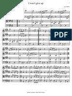 I Won't Give Up - Quarteto