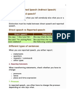 Reported Speech in English