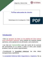 Presentacion - Formas de Citacion