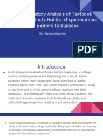 an exploratory analysis of textbook usage and study habits- misperceptions and barriers to success
