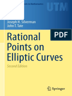 Joseph H. Silverman, John T Tate Rational Points on Elliptic Curves