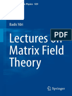 Lectures Matrix Field