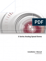 Installation Manual of E Series Analog Speed Dome