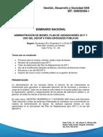 Programa Bienes Plan de Adquisiciones y Uso Del Secop