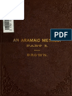 An Aramaic Method. Class Book for the Study of the Elements of Aramaic From Bible and Targums Volume 1