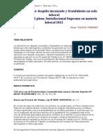 La Reposición Por Despido Incausado y Fraudulento en Sede Laboral - Perú