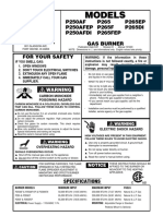 Manual 101220 p250af p265f Gas Powered Burners English
