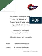 Investigacion Materiales Aislantes para la construccion