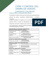 Evaluación y Control Del Programa de Ventas Indicadores Gerenciadeventas