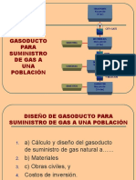Diseño de Gasoducto Para Suministro de Gas A