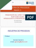 I de P Sesion 1 Presentacion Del Curso - Introduccion a La I de Procesos