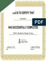 certificate hippa-osha