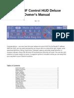 Bandit IF Control HUD Deluxe User Manual
