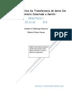 Reporte de Práctica de Transferencia de Datos Con Cable Directo Conectado a Switch