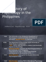 History of Psychology in the Philippines
