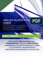 8. Analisis Regresi-korelasi Ganda
