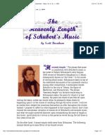 """The """"Heavenly Length"""" of Schubert's Music by Scott Burnham - Ideas, Vol. 6, No. 1, 1999"""
