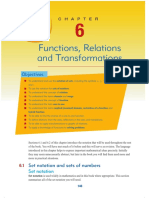Ch 6 Functions, Relations and Transformations